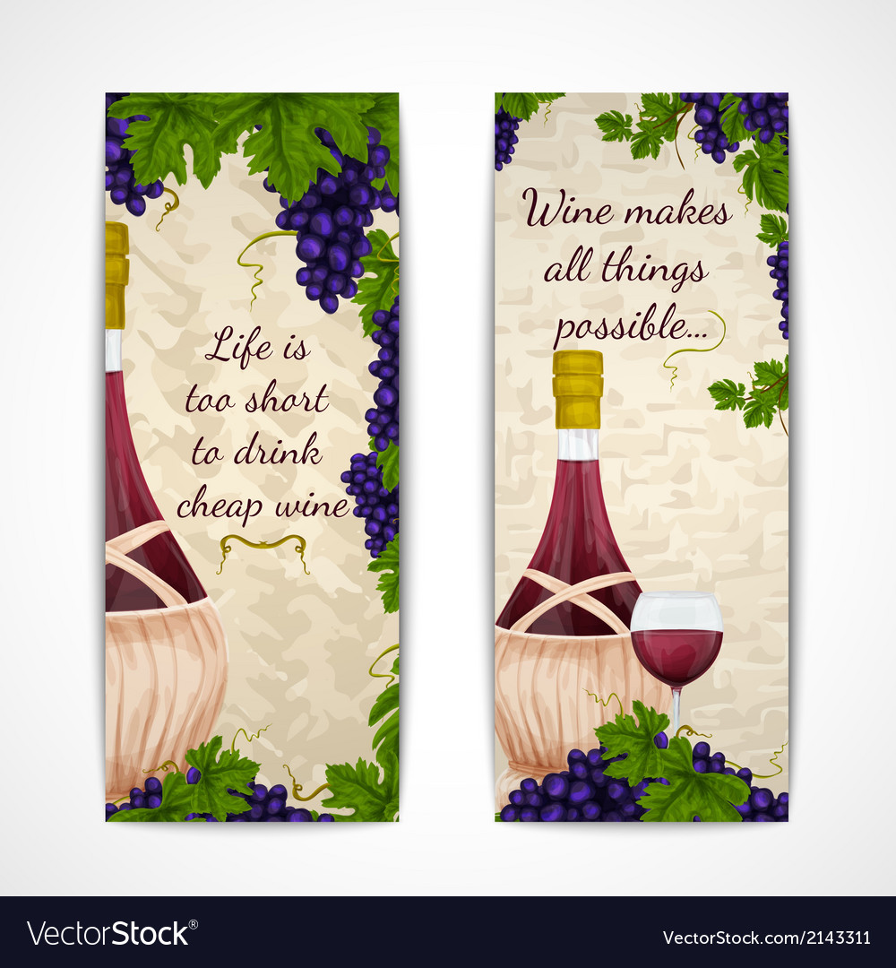 Wine banners vertical vector | Price: 1 Credit (USD $1)