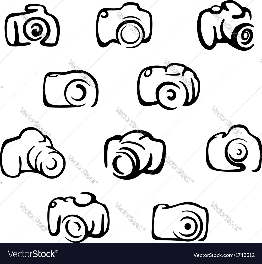 Camera icons and symbols set vector | Price: 1 Credit (USD $1)