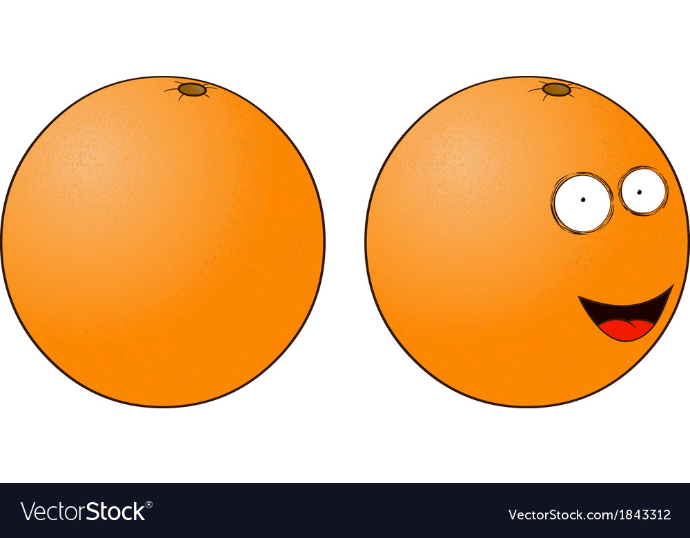 Cartoon orange vector | Price: 1 Credit (USD $1)