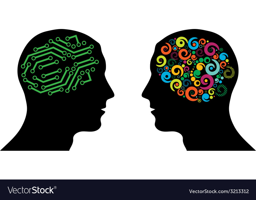Different brain in heads vector   Price: 1 Credit (USD $1)