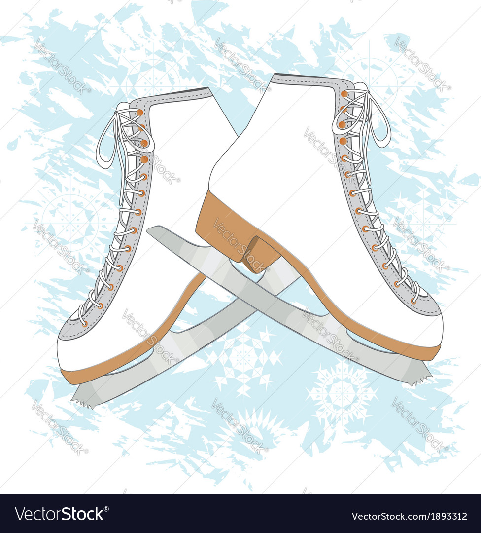 Ice skates background vector | Price: 1 Credit (USD $1)