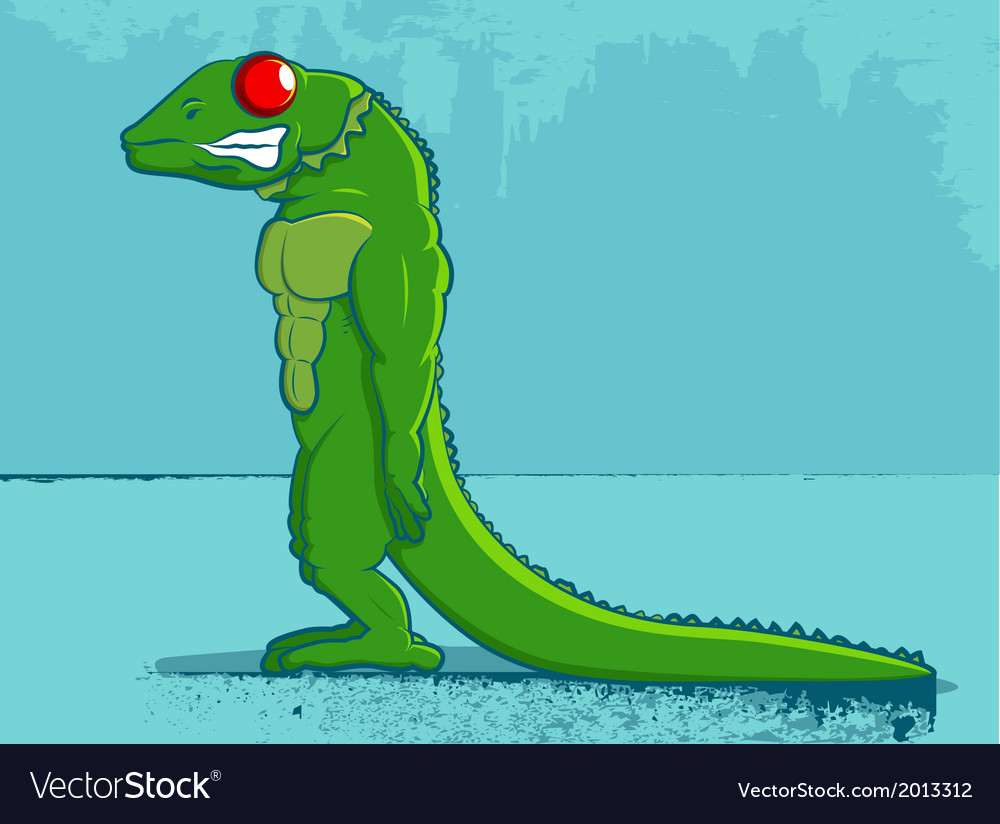 Lizard cartoon vector | Price: 1 Credit (USD $1)