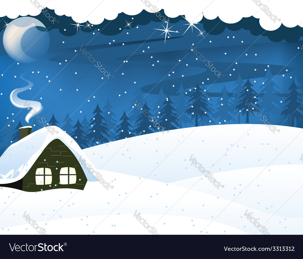 Lonely forest hut vector | Price: 3 Credit (USD $3)