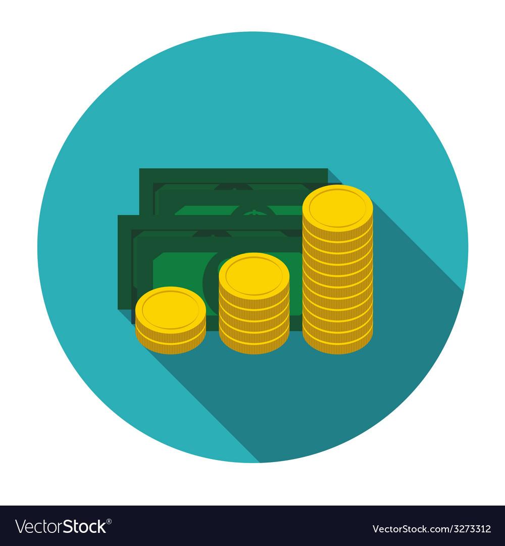 Money flat design concept vector | Price: 1 Credit (USD $1)