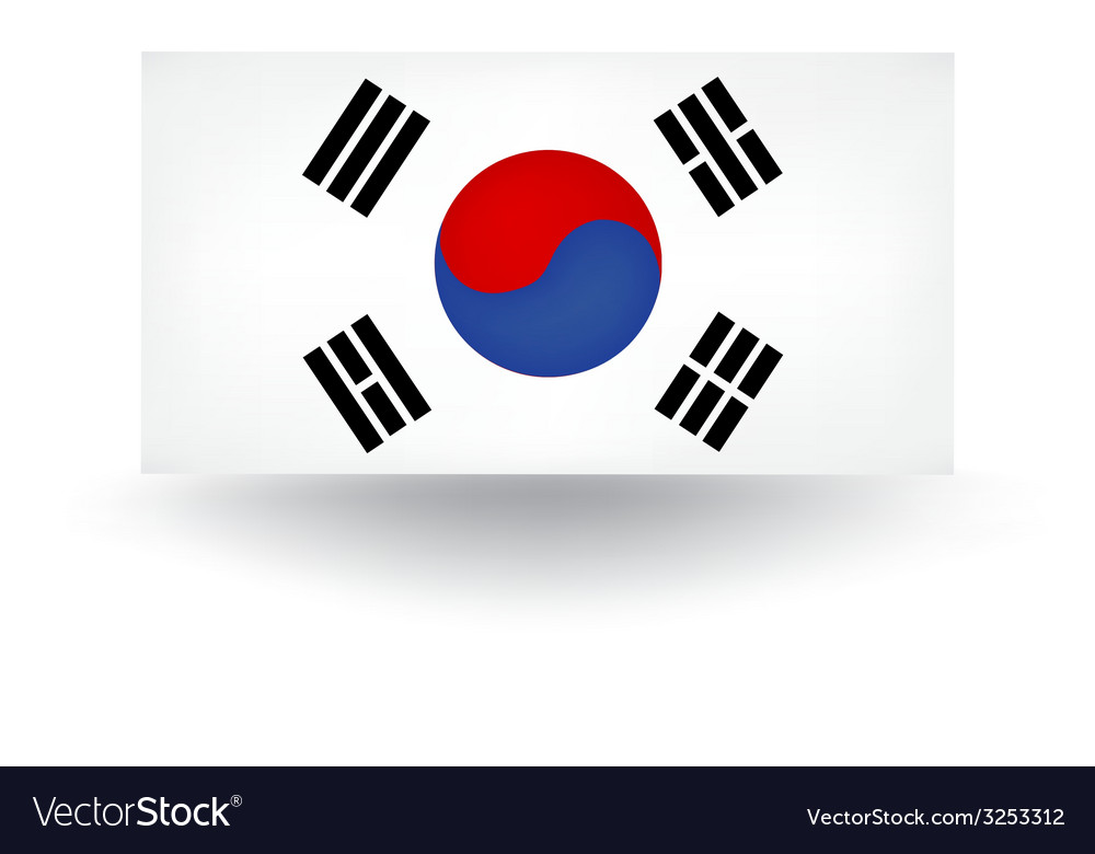 South korean flag vector | Price: 1 Credit (USD $1)