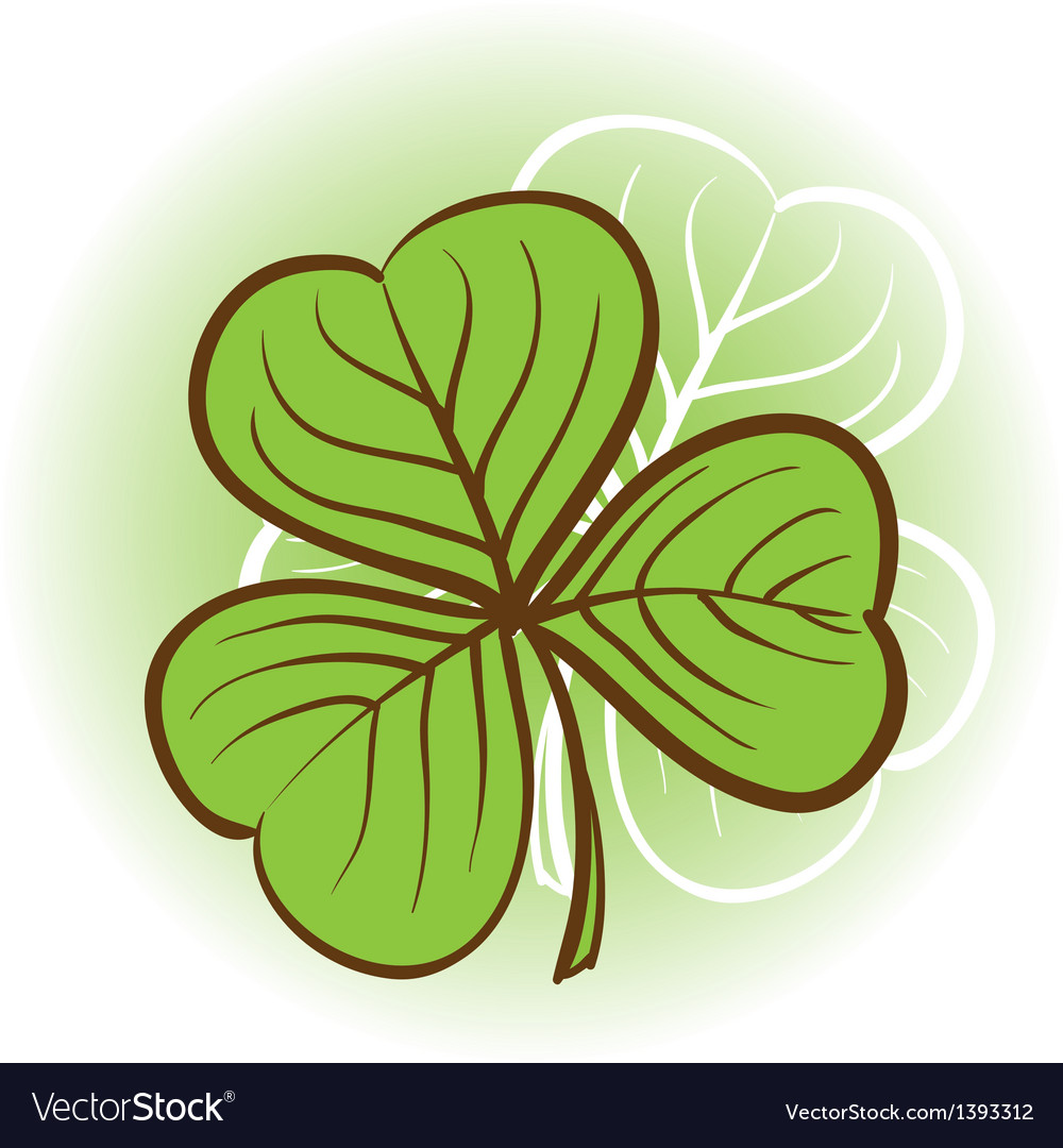 Three leaf clover vector | Price: 1 Credit (USD $1)