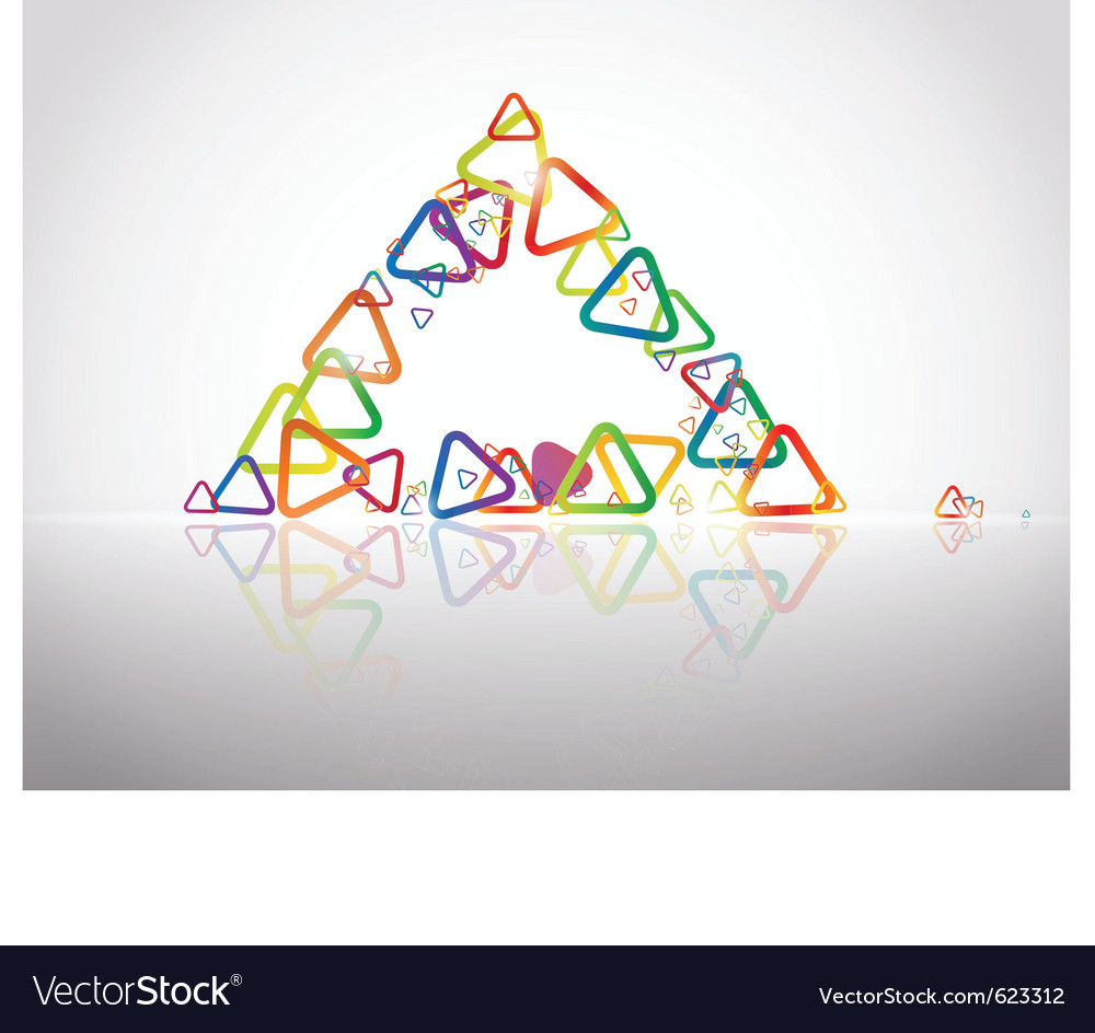 Triangle reflection vector | Price: 1 Credit (USD $1)