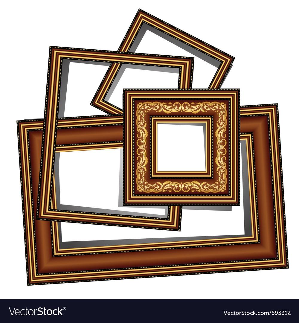Vintage baguette frames vector | Price: 1 Credit (USD $1)