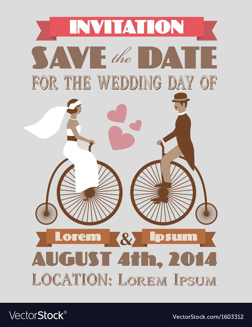 Vintage wedding invitation 2 vector | Price: 1 Credit (USD $1)