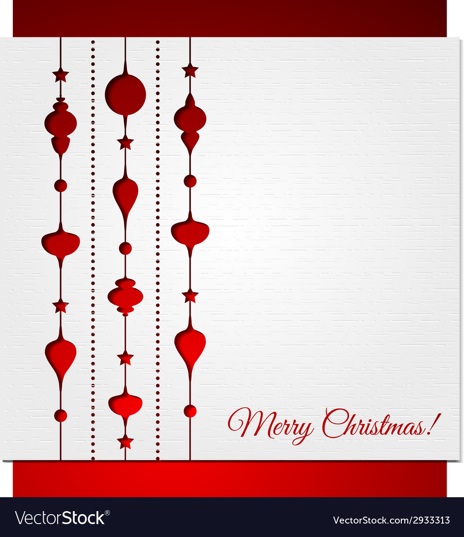 Christmas decoration background vector | Price: 1 Credit (USD $1)