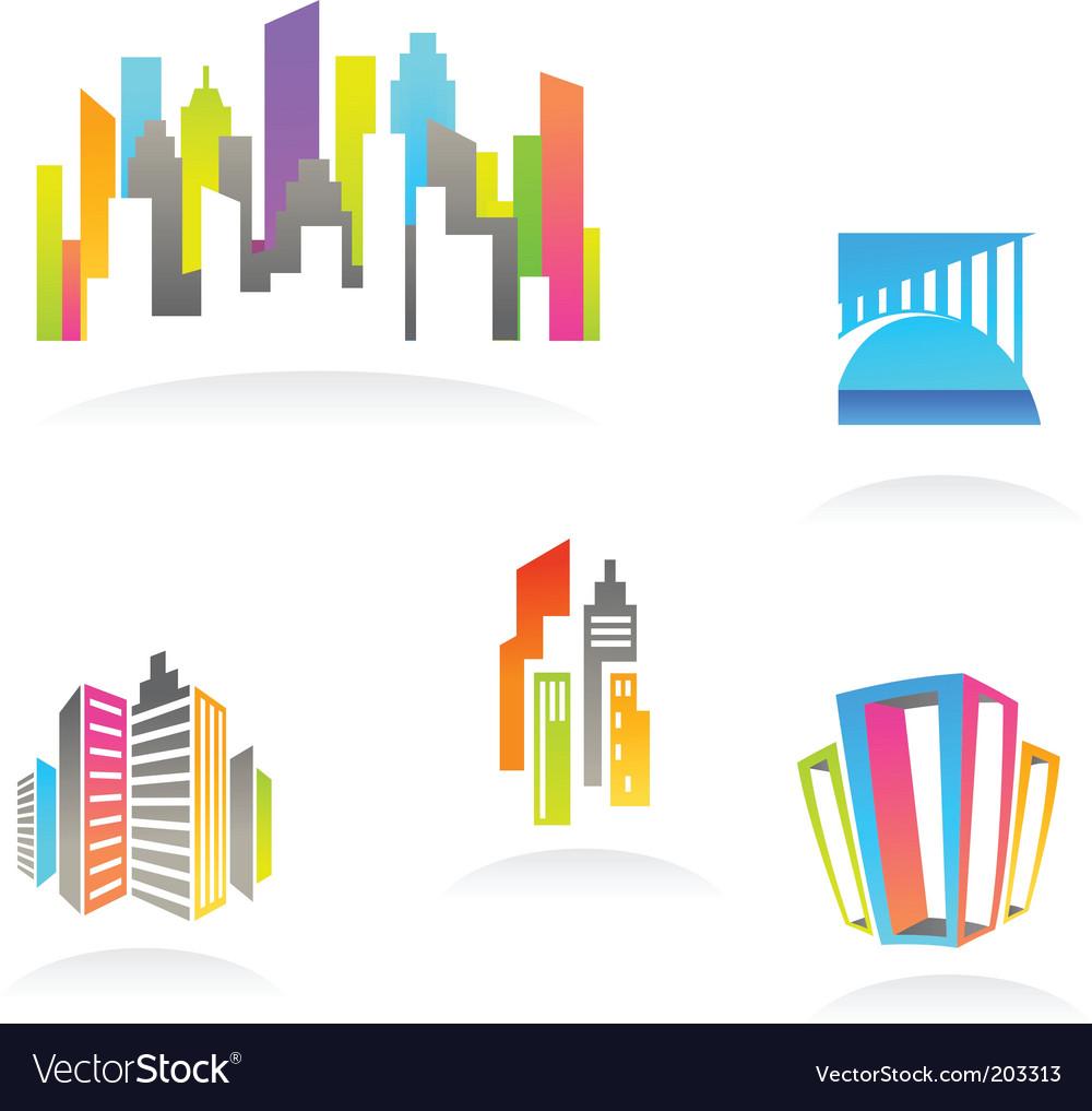 City real estate logo vector | Price: 1 Credit (USD $1)