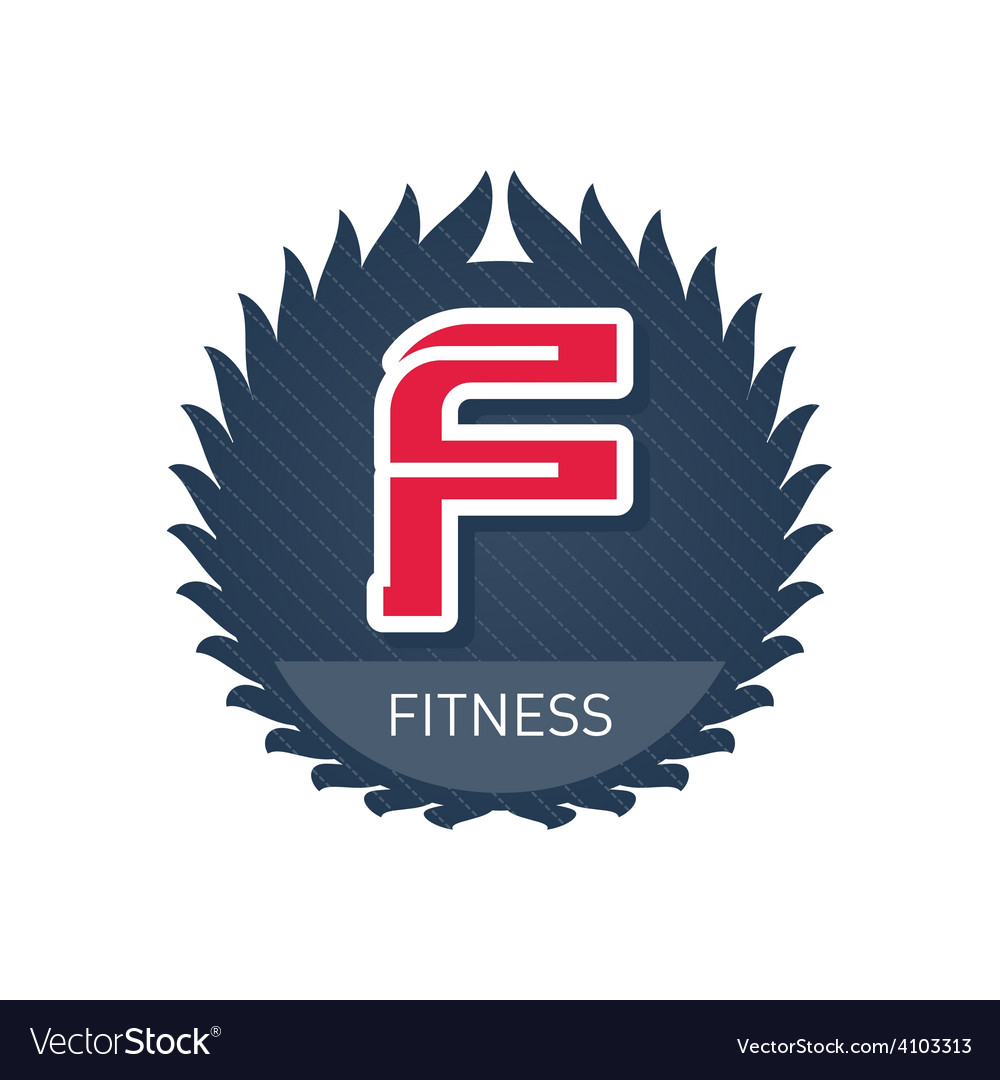 Fitness - sports and recreation label or heraldic vector | Price: 1 Credit (USD $1)