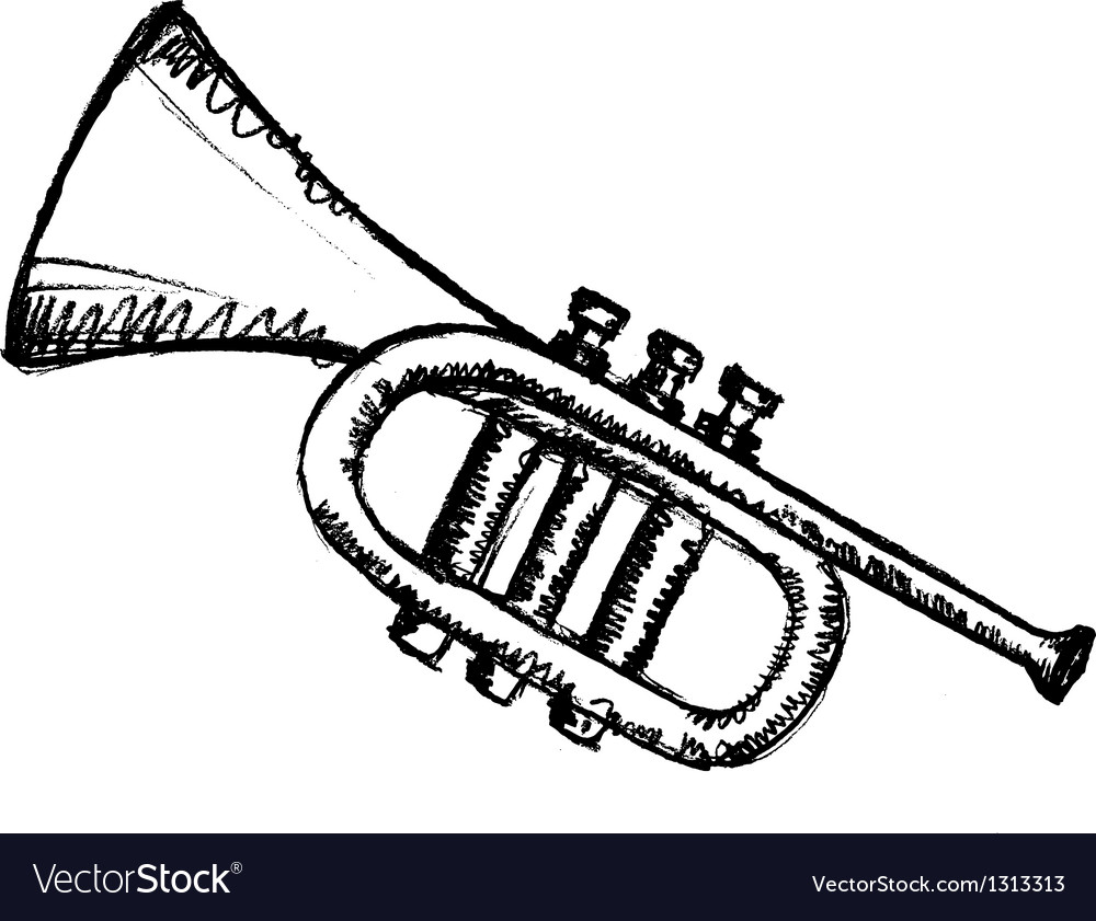 Horn musical instrument vector | Price: 1 Credit (USD $1)