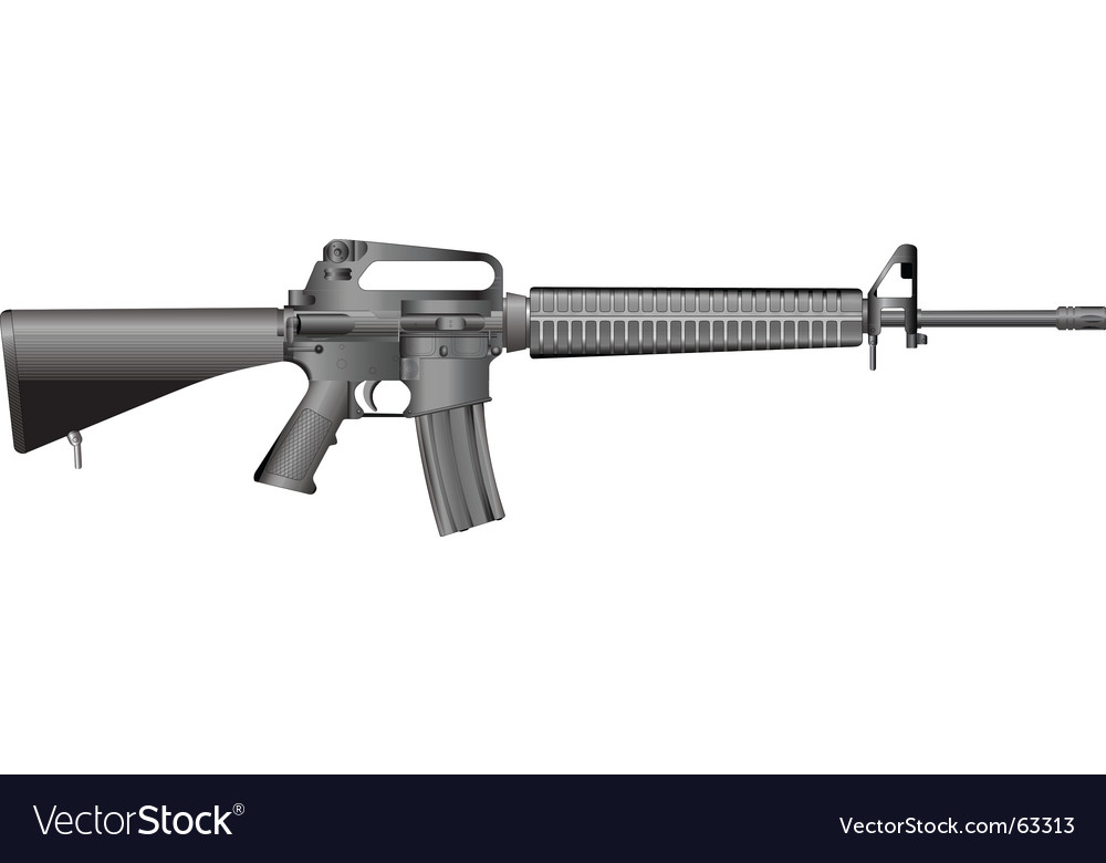 M16 a vector | Price: 1 Credit (USD $1)