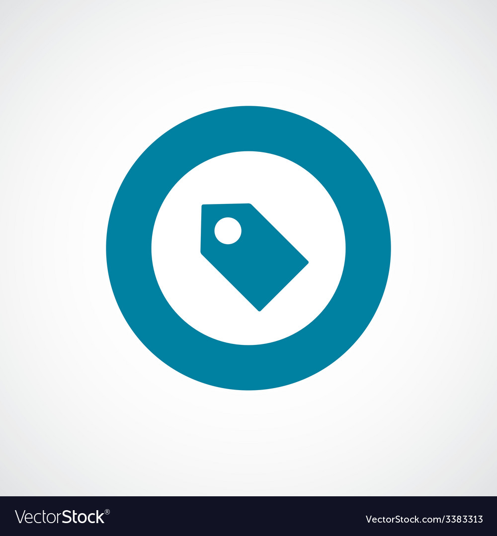 Tag bold blue border circle icon vector | Price: 1 Credit (USD $1)