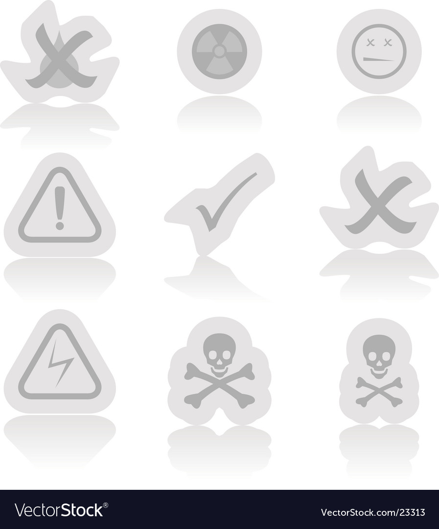 Warning icons vector | Price: 1 Credit (USD $1)