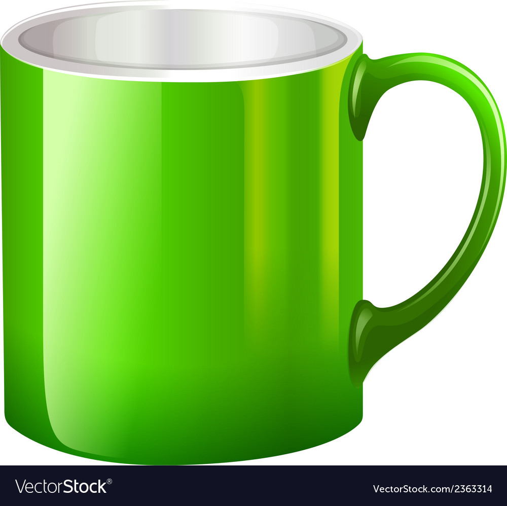 A big green mug vector | Price: 1 Credit (USD $1)