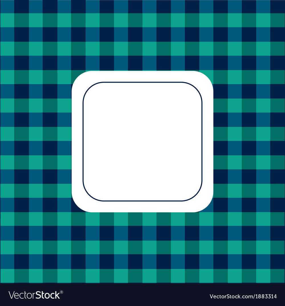Background checkered green and blue vector | Price: 1 Credit (USD $1)