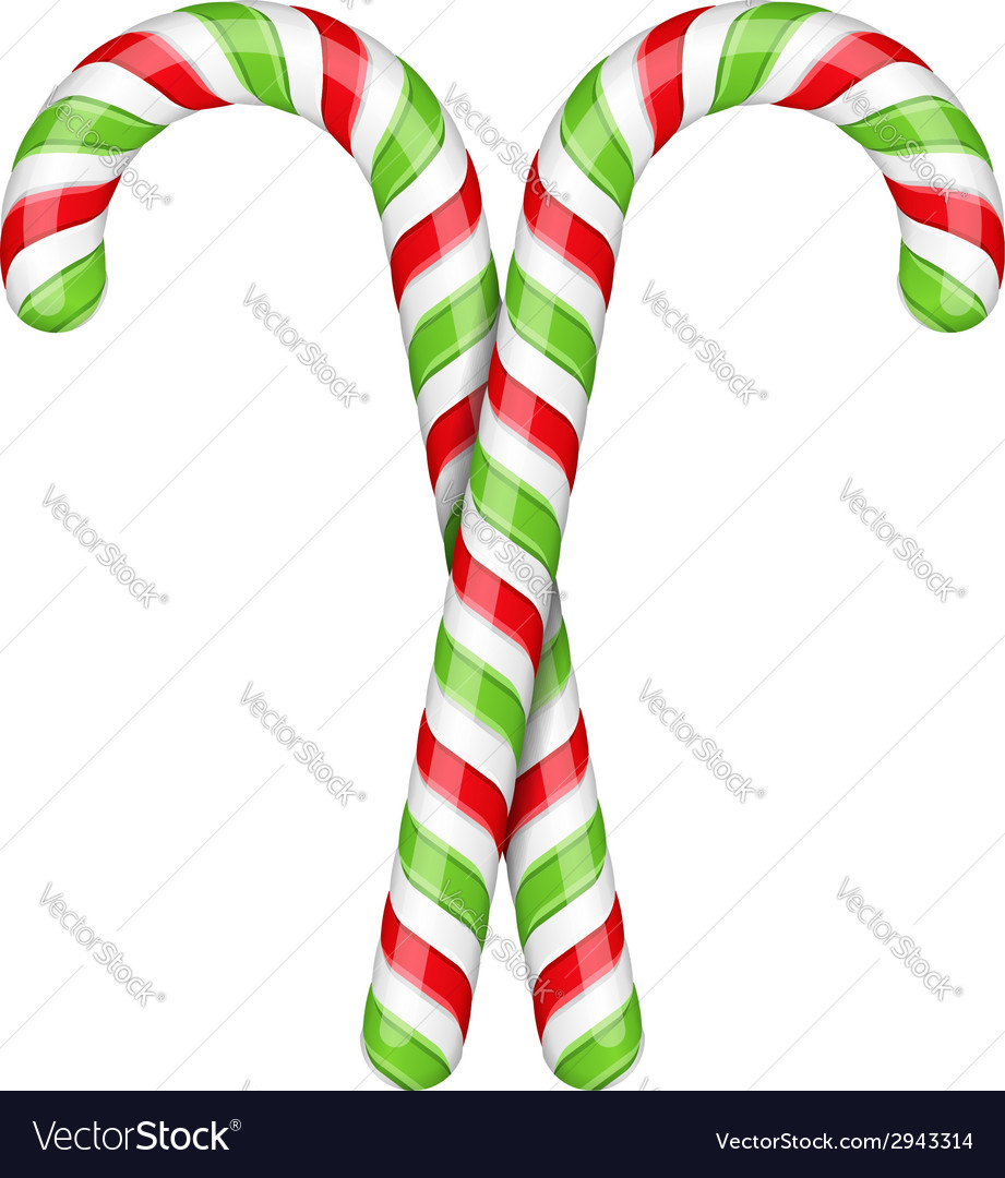 Candy canes vector | Price: 1 Credit (USD $1)