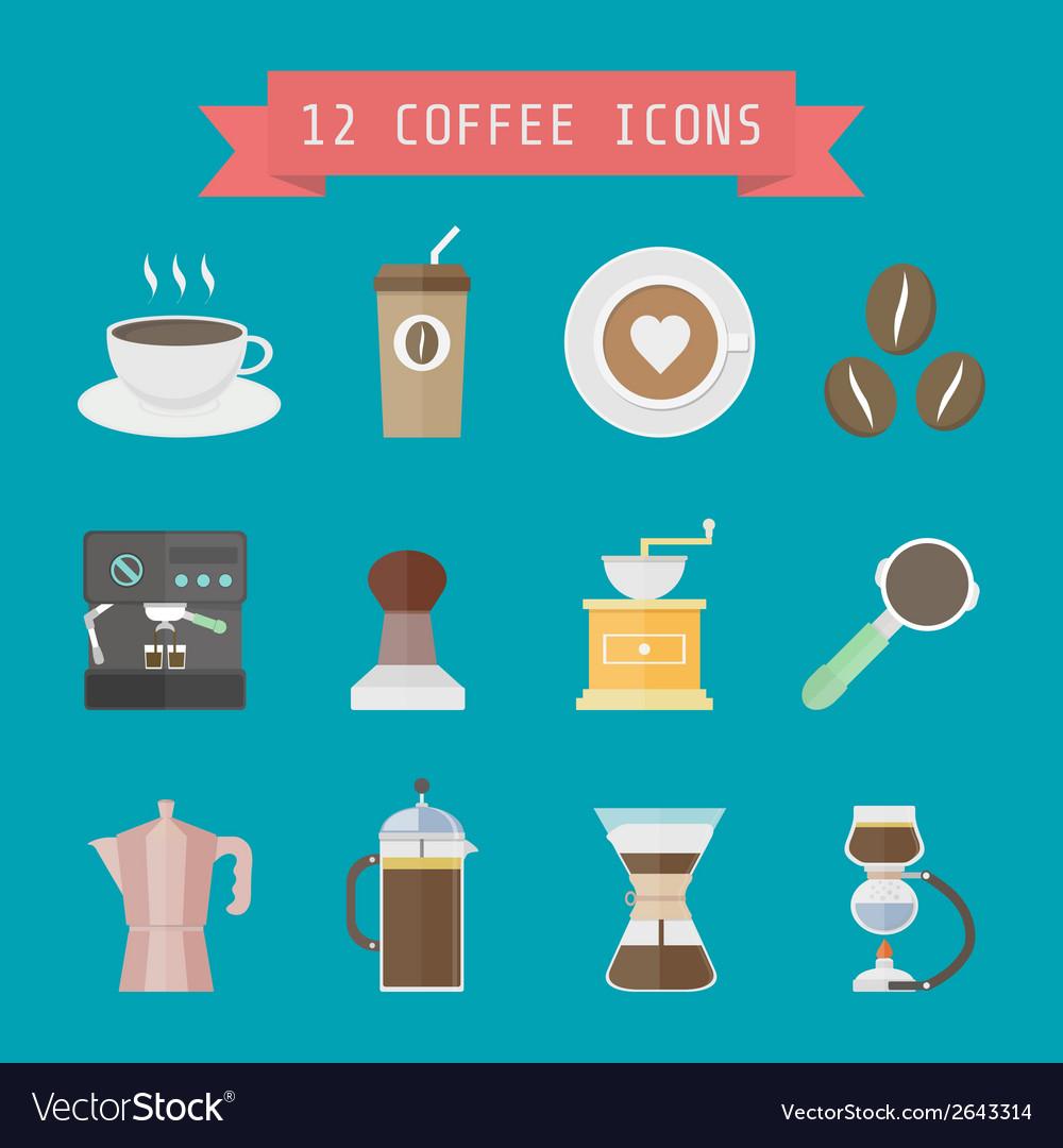 Coffeeiconmix vector | Price: 1 Credit (USD $1)