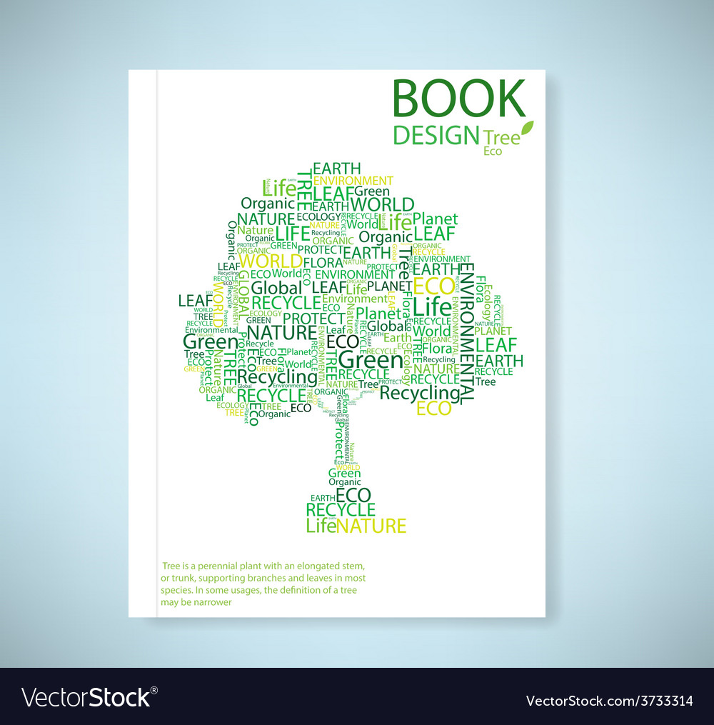 Cover report stylized tree eco and icon vector   Price: 1 Credit (USD $1)