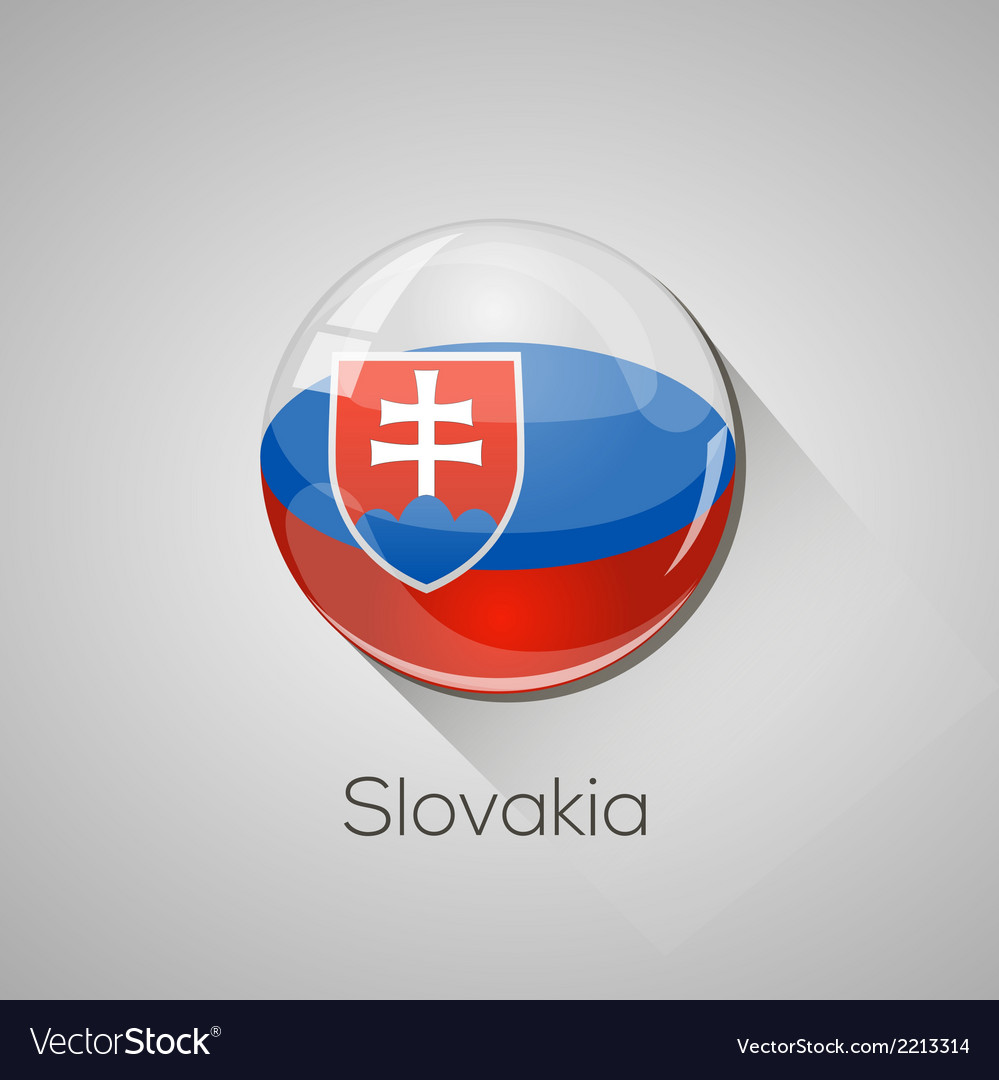 European flags set - slovakia vector | Price: 1 Credit (USD $1)