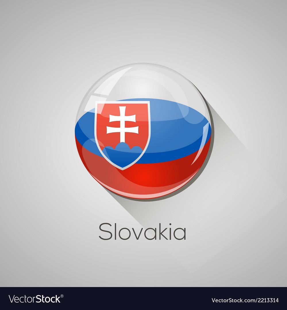 European flags set - slovakia vector | Price: 1 Credit (USD $1)