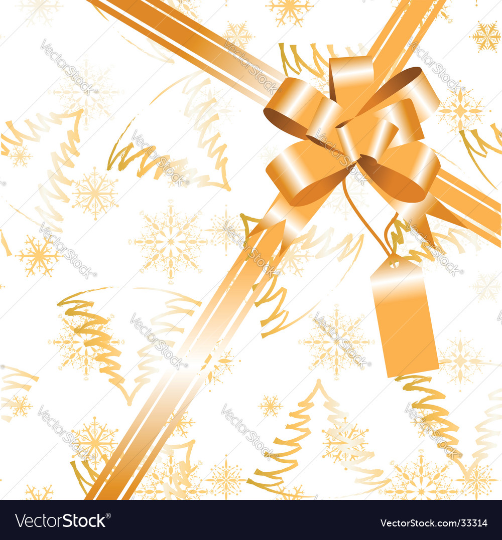Gift bow ribbon vector | Price: 1 Credit (USD $1)