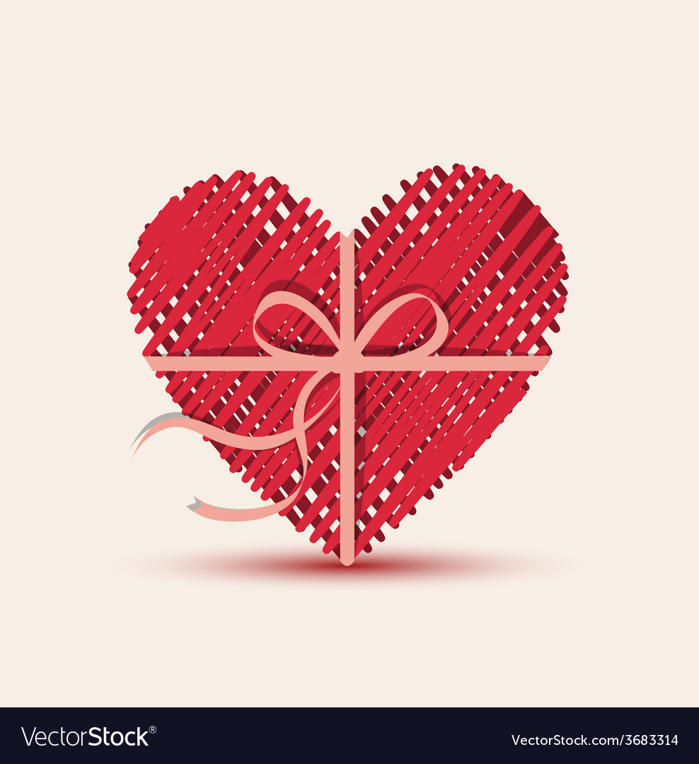 Heart red vector | Price: 1 Credit (USD $1)