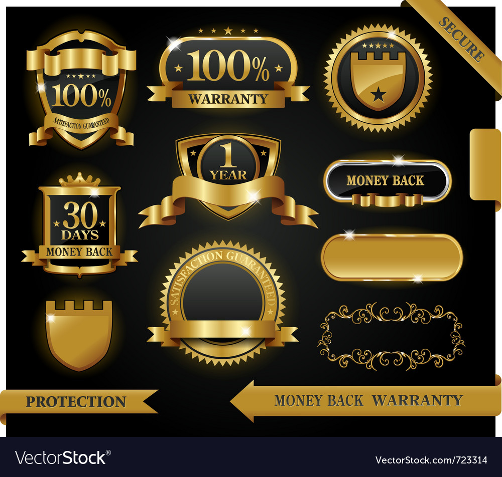 Satisfaction guaranteed labels vector | Price: 3 Credit (USD $3)