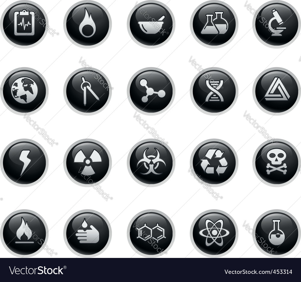 Science icons vector   Price: 1 Credit (USD $1)