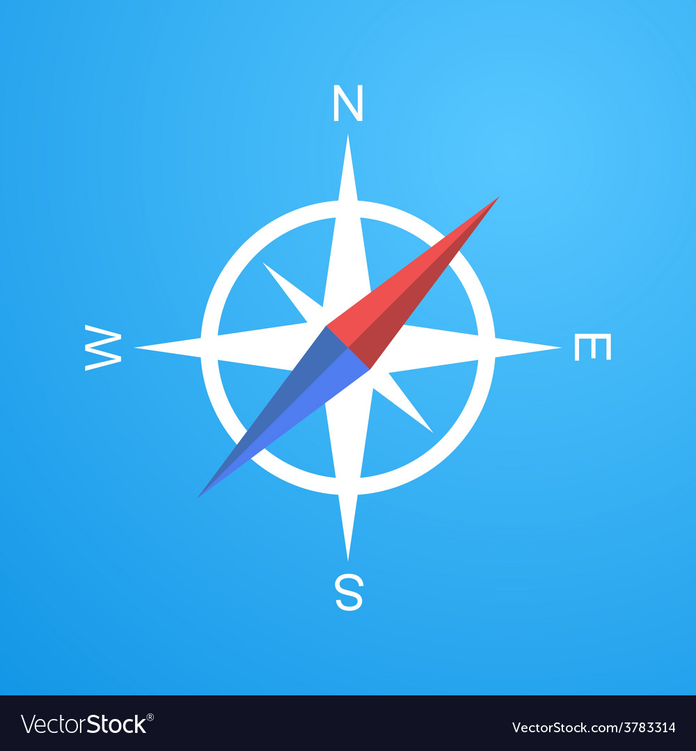 Simple compass icon vector   Price: 1 Credit (USD $1)