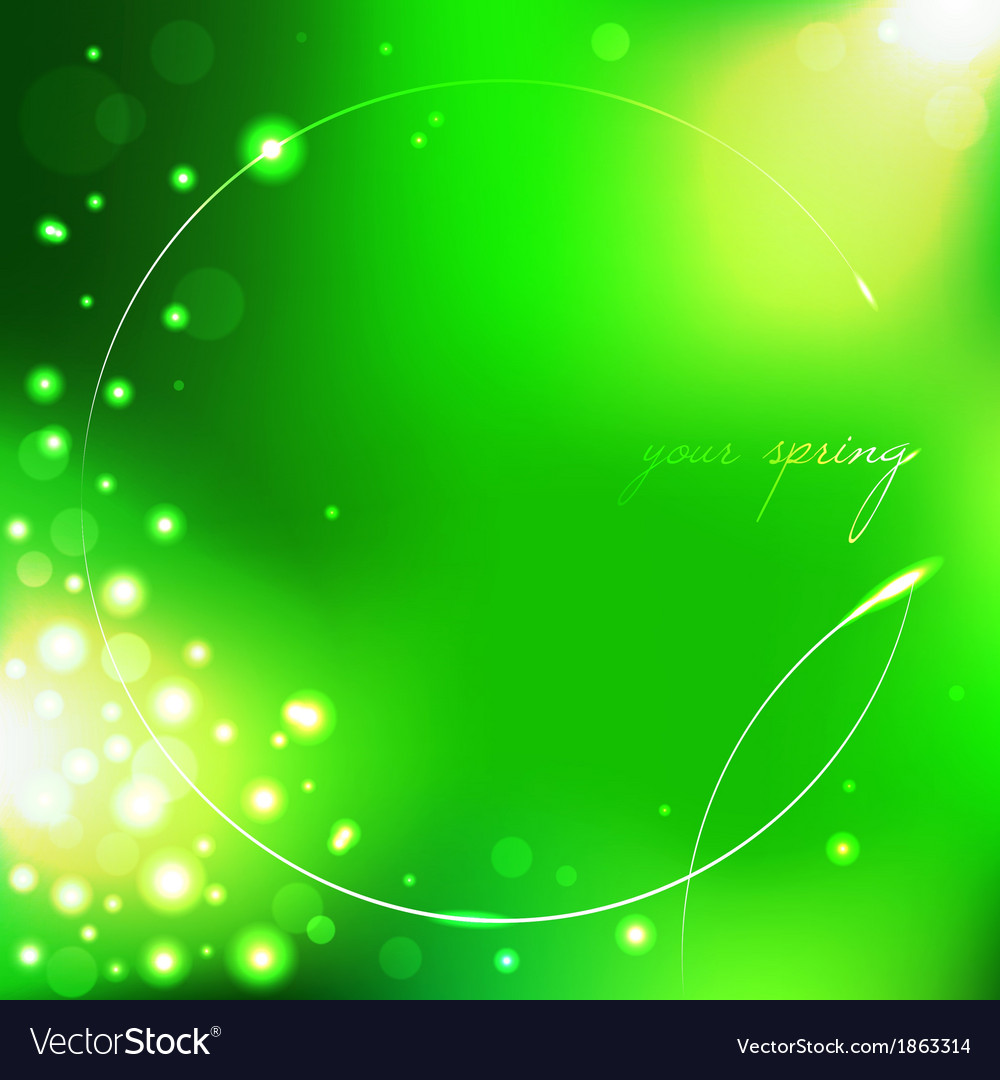 Spring green background with leaf vector   Price: 1 Credit (USD $1)