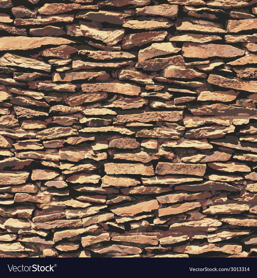Stone wall brown relief texture with shadow vector | Price: 1 Credit (USD $1)