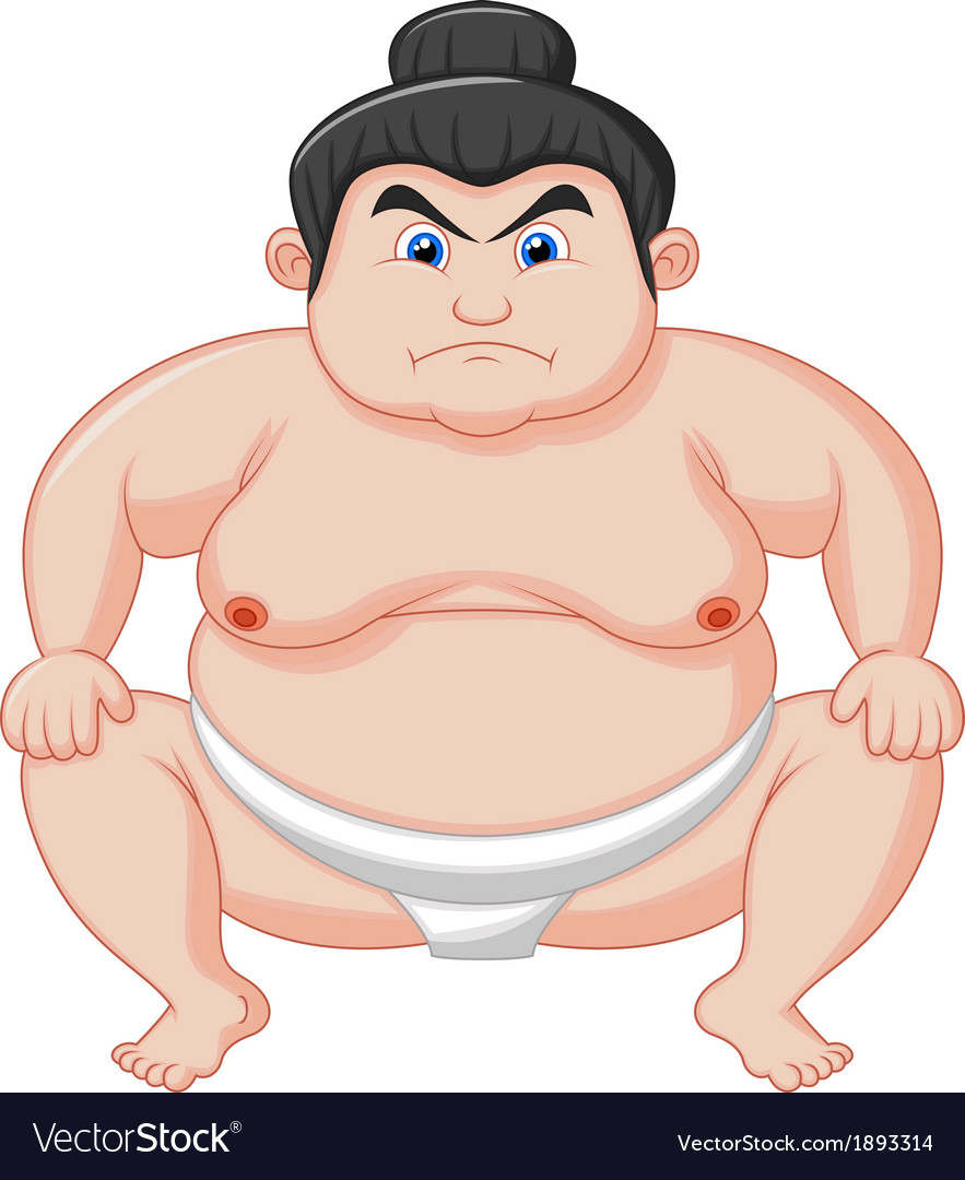 Sumo wrestler cartoon vector | Price: 1 Credit (USD $1)