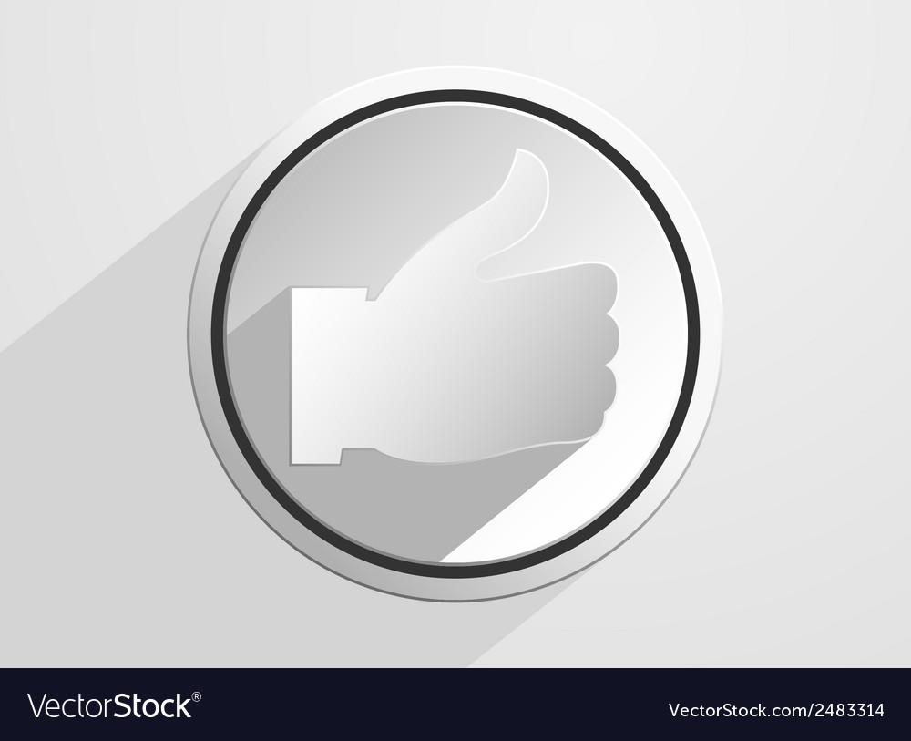 Thumb up like icon vector | Price: 1 Credit (USD $1)