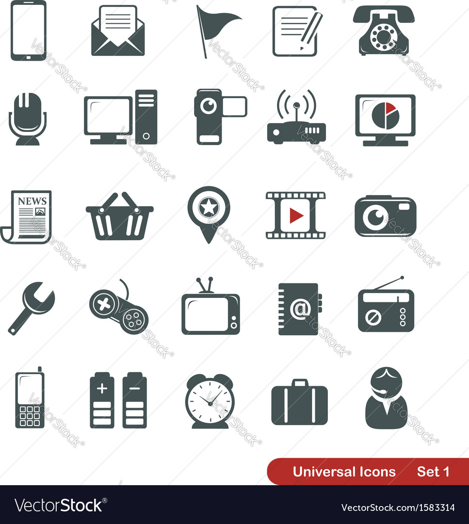 Universal icons vector | Price:  Credit (USD $)