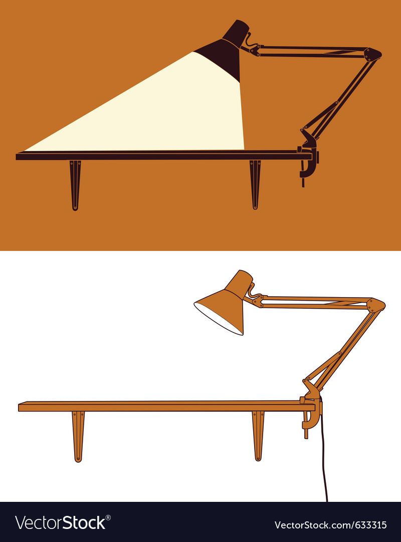 Angle-poise lamp vector | Price: 1 Credit (USD $1)