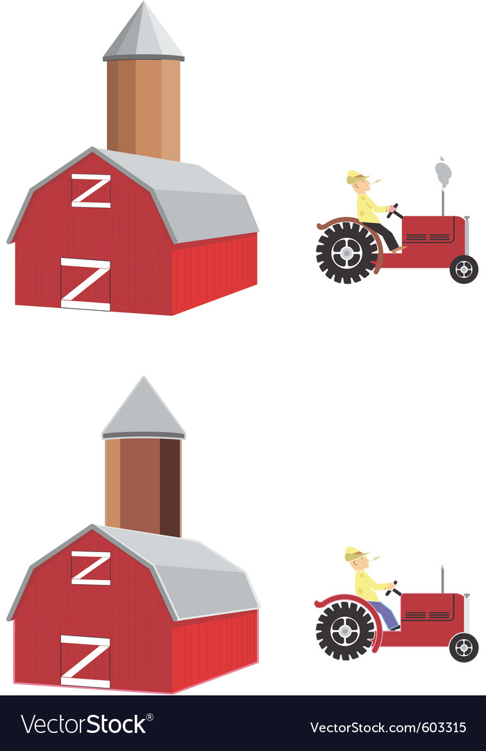 Barn tractor vector | Price: 1 Credit (USD $1)