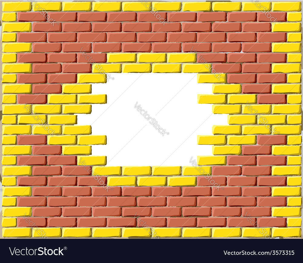 Brick frame vector | Price: 1 Credit (USD $1)