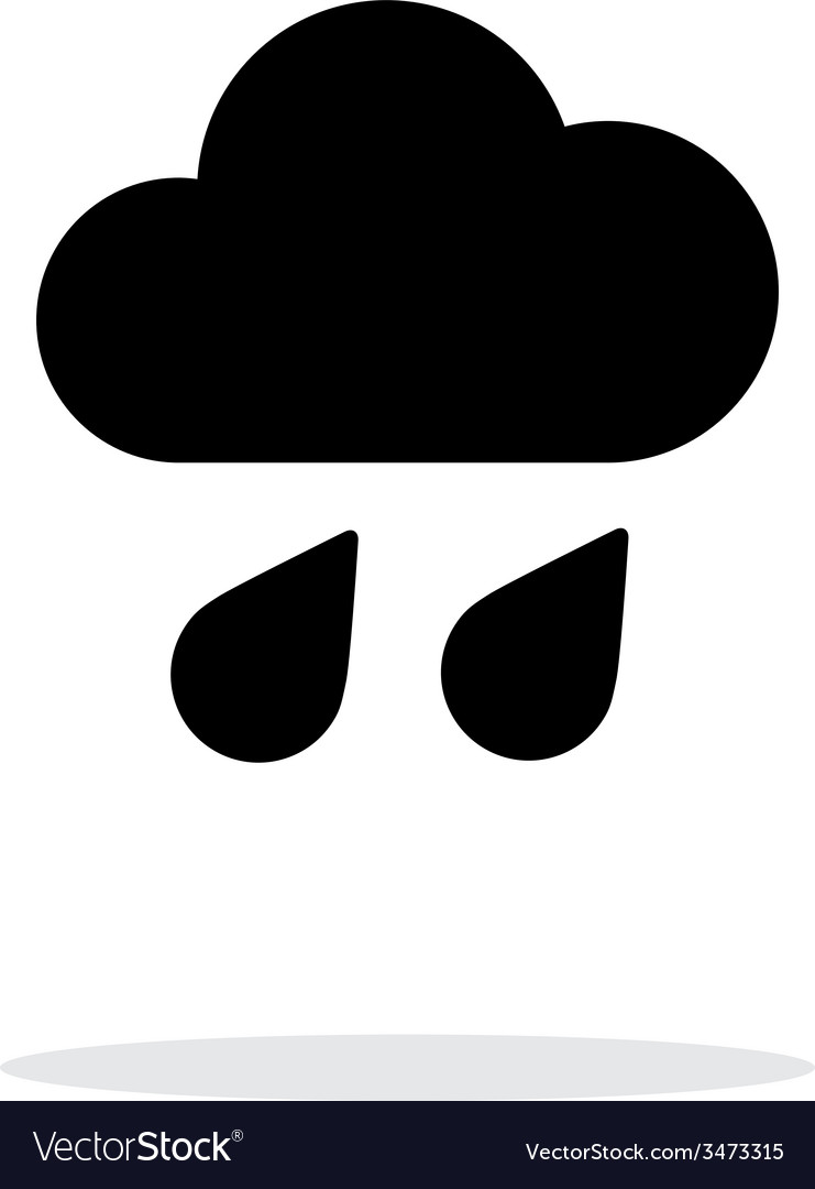 Downpour weather icon on white background vector | Price: 1 Credit (USD $1)