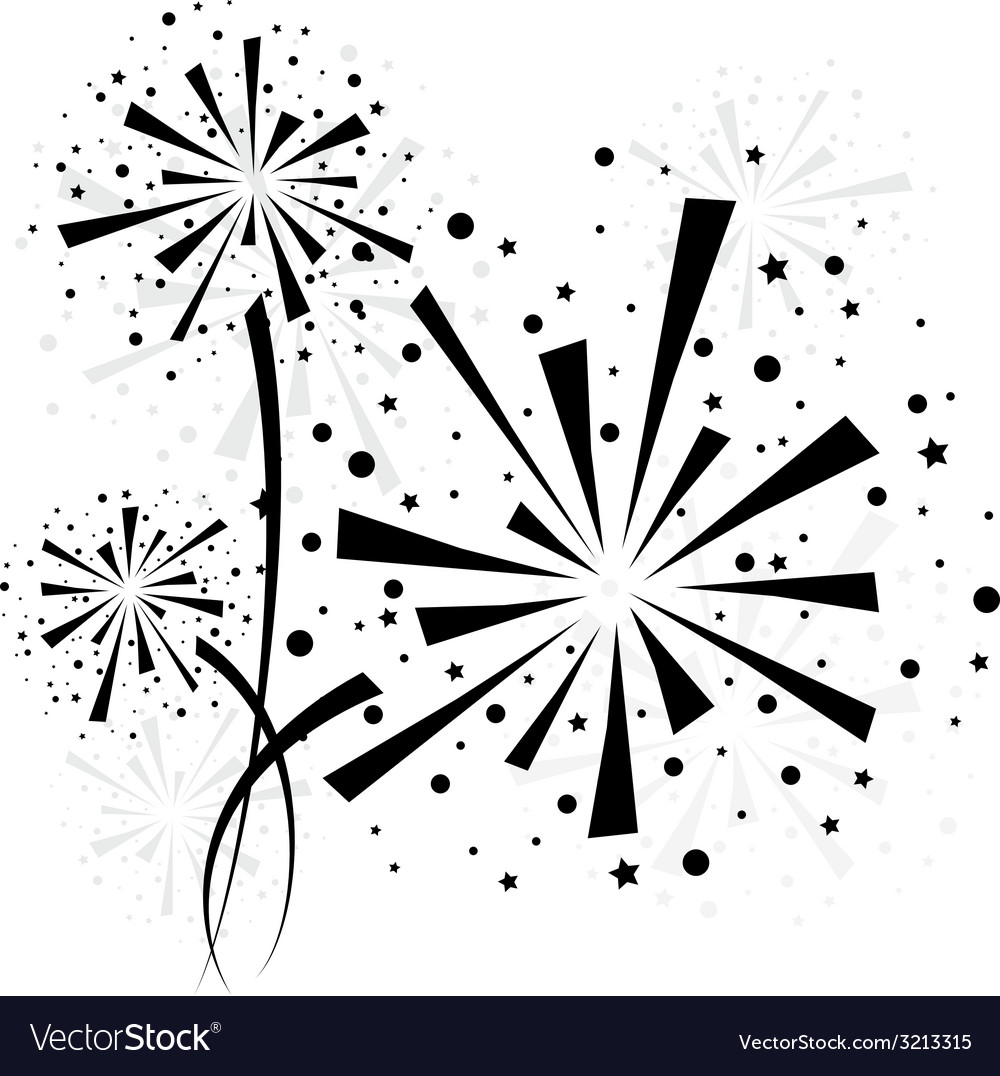 Firework black vector | Price: 1 Credit (USD $1)