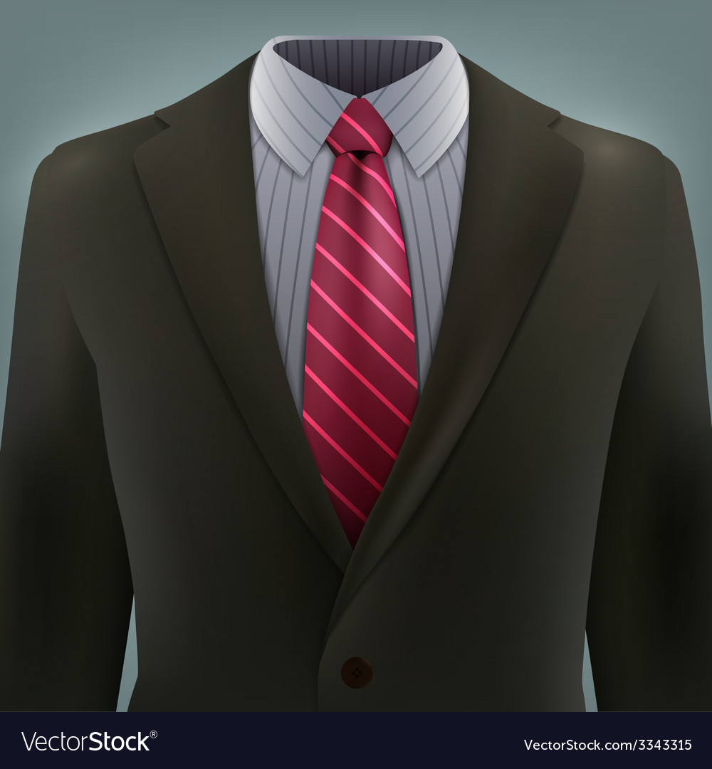 Grey business suit with a tie vector | Price: 3 Credit (USD $3)