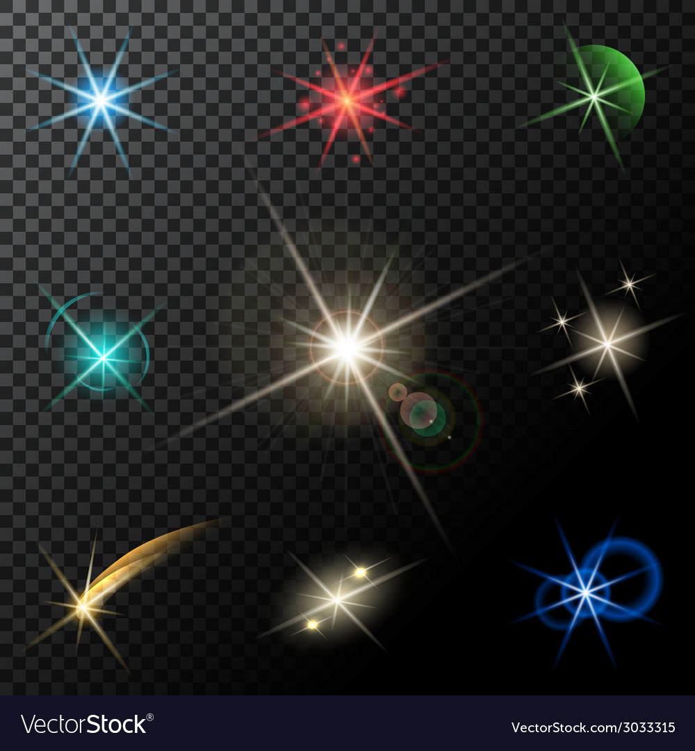 Lights stars and sparkles vector | Price: 1 Credit (USD $1)