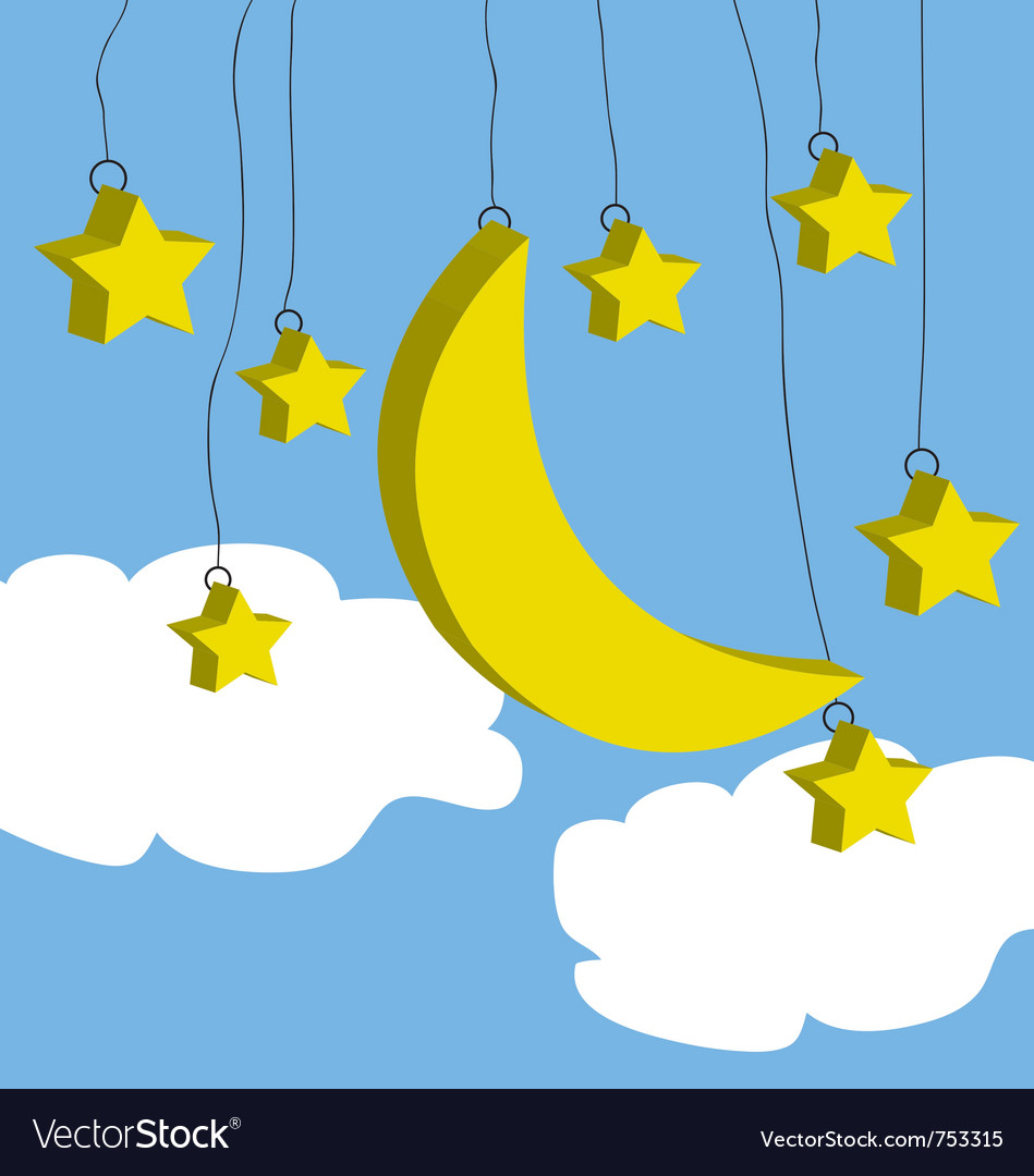 Moon and star vector | Price: 1 Credit (USD $1)