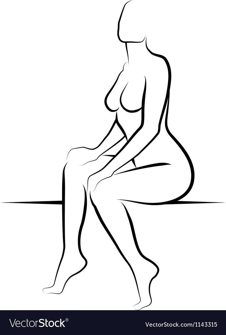 Nude woman vector | Price: 1 Credit (USD $1)