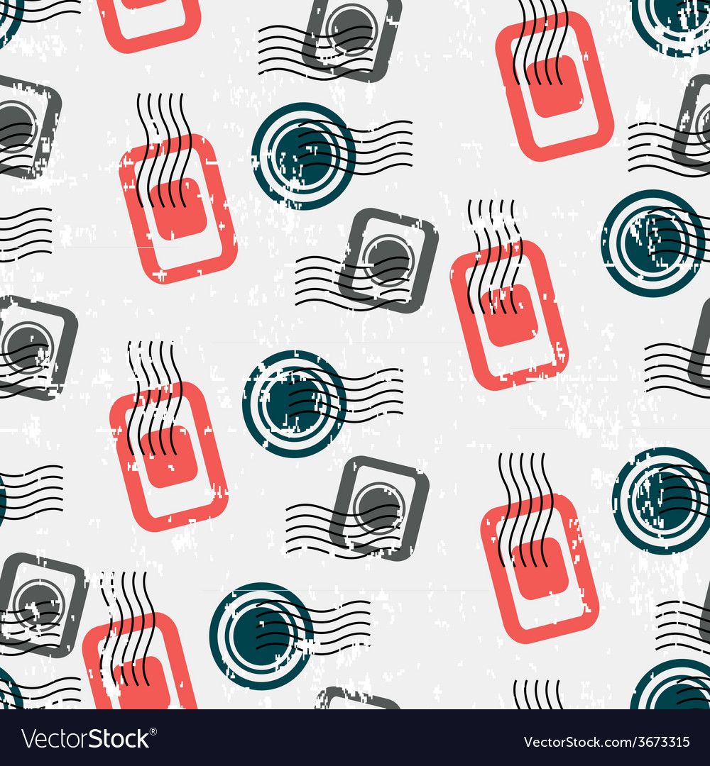 Seamless pattern with visa stamps background for vector | Price: 1 Credit (USD $1)