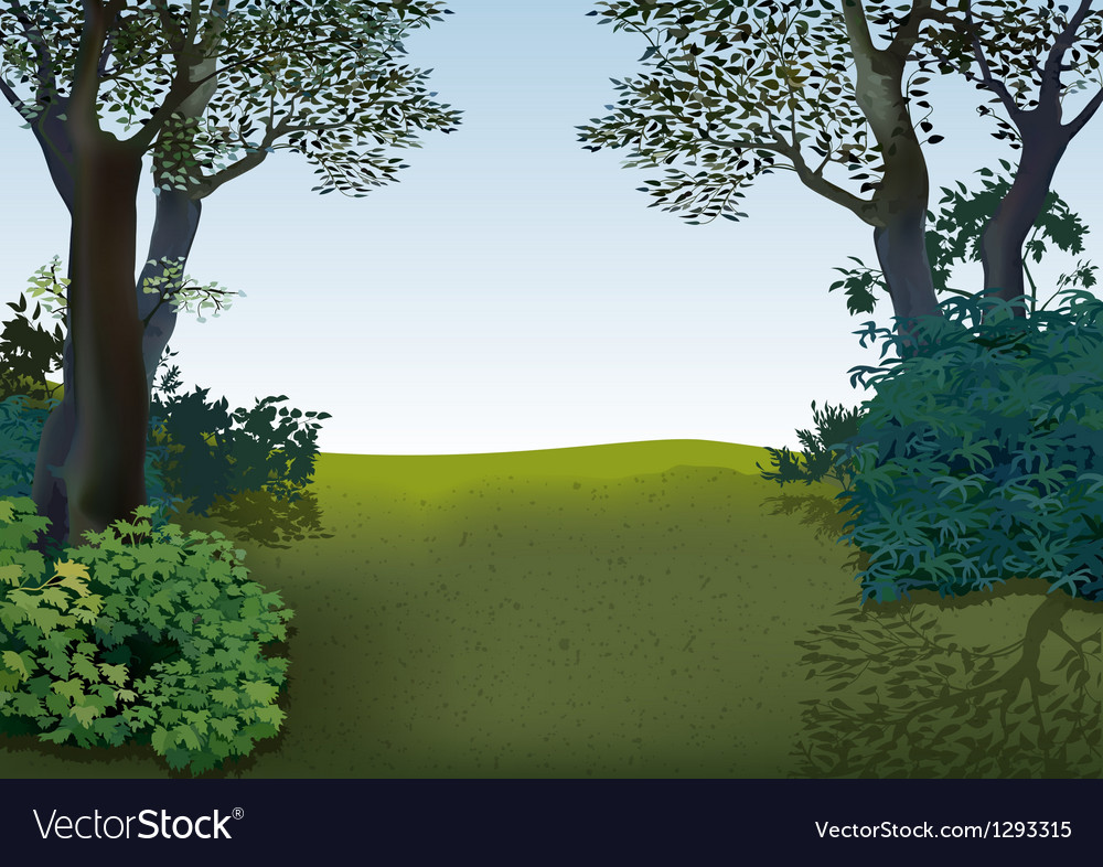 Spring landscape vector | Price: 1 Credit (USD $1)