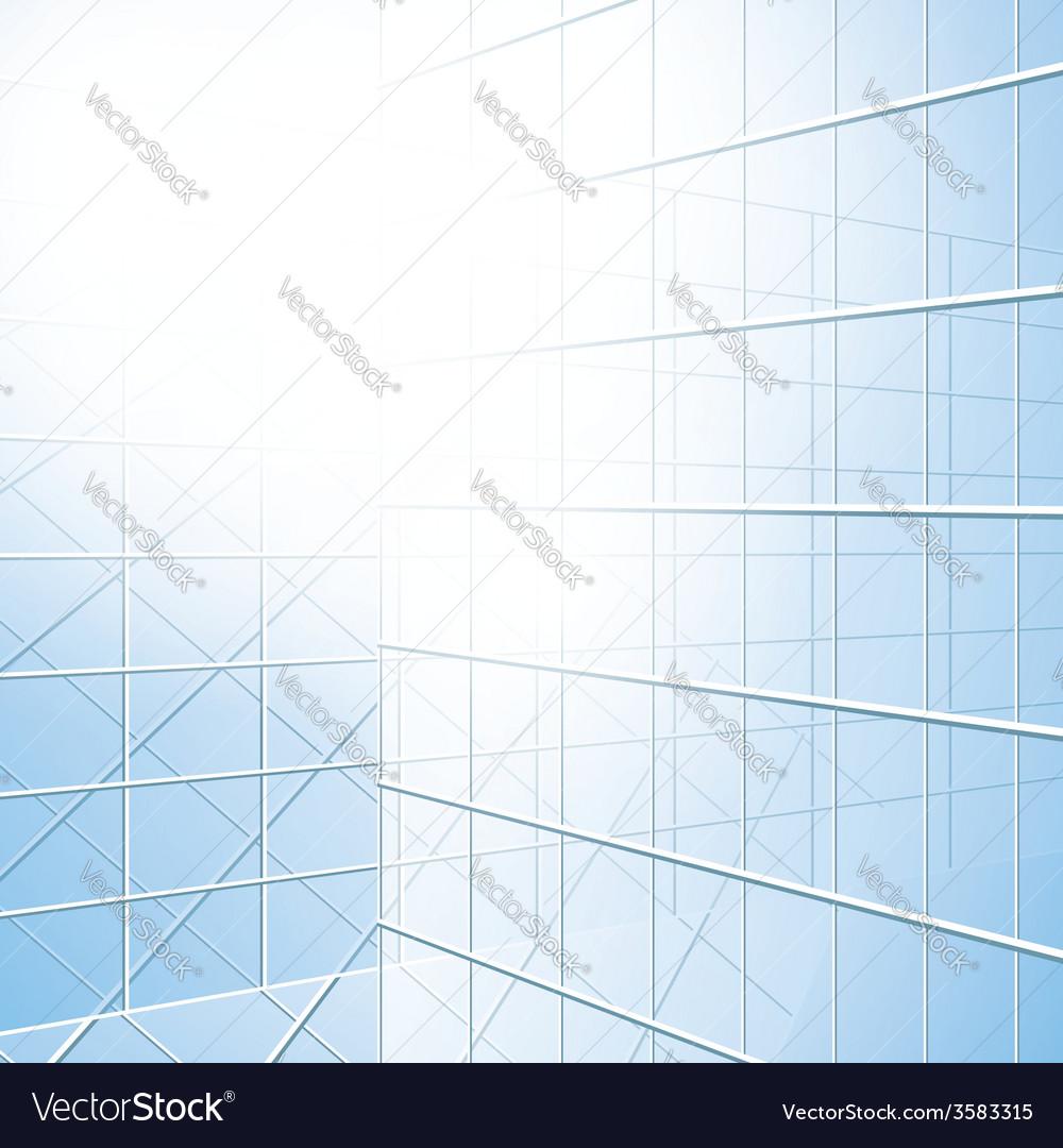 Transparent windows - blue facade vector | Price: 1 Credit (USD $1)