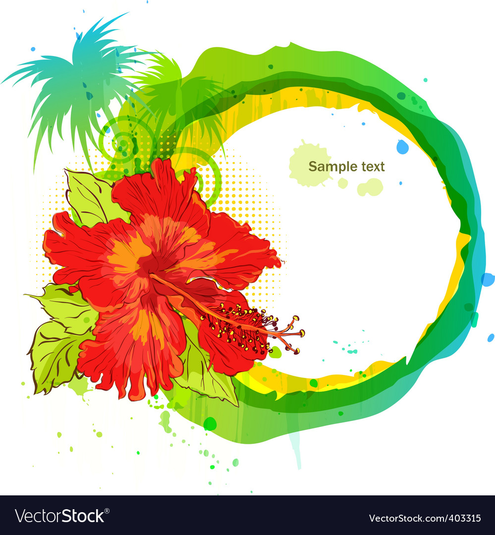 Tropical flowers vector | Price: 1 Credit (USD $1)